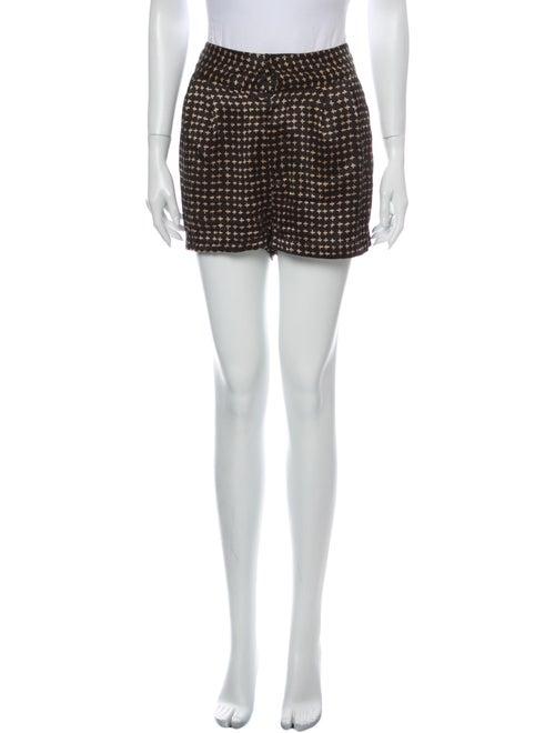 Rebecca Minkoff Silk Mini Shorts Black