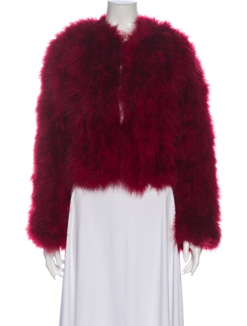 Rebecca Minkoff Feather Coat Red