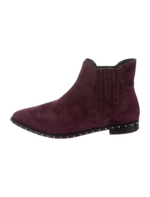 Rebecca Minkoff Suede Chelsea Boots Purple