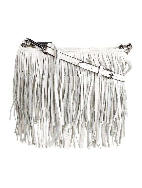 Rebecca Minkoff Leather Fringe Crossbody White