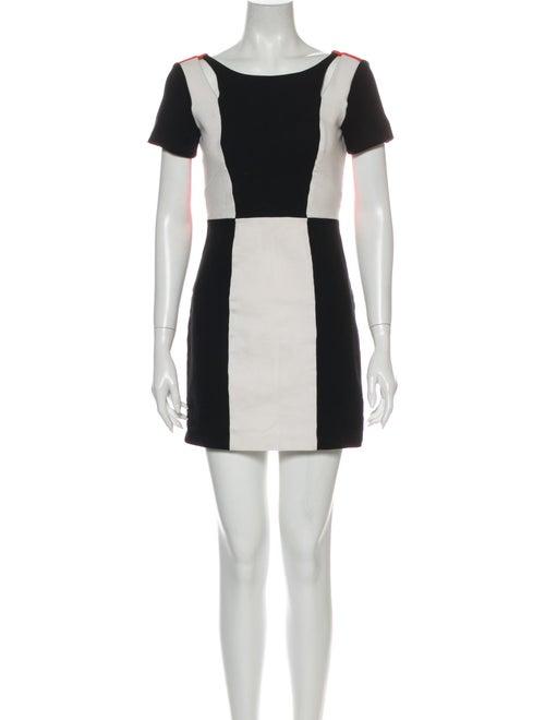 Rebecca Minkoff Colorblock Pattern Mini Dress Blac