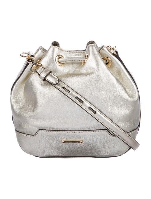 Rebecca Minkoff Metallic Leather Bucket Bag Gold