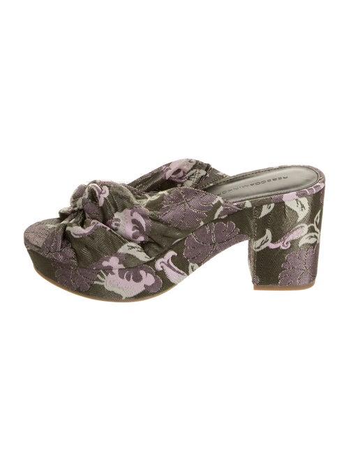Rebecca Minkoff Paisley Print Sandals Metallic