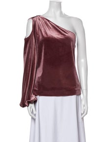 Rebecca Minkoff One-Shoulder Long Sleeve Blouse