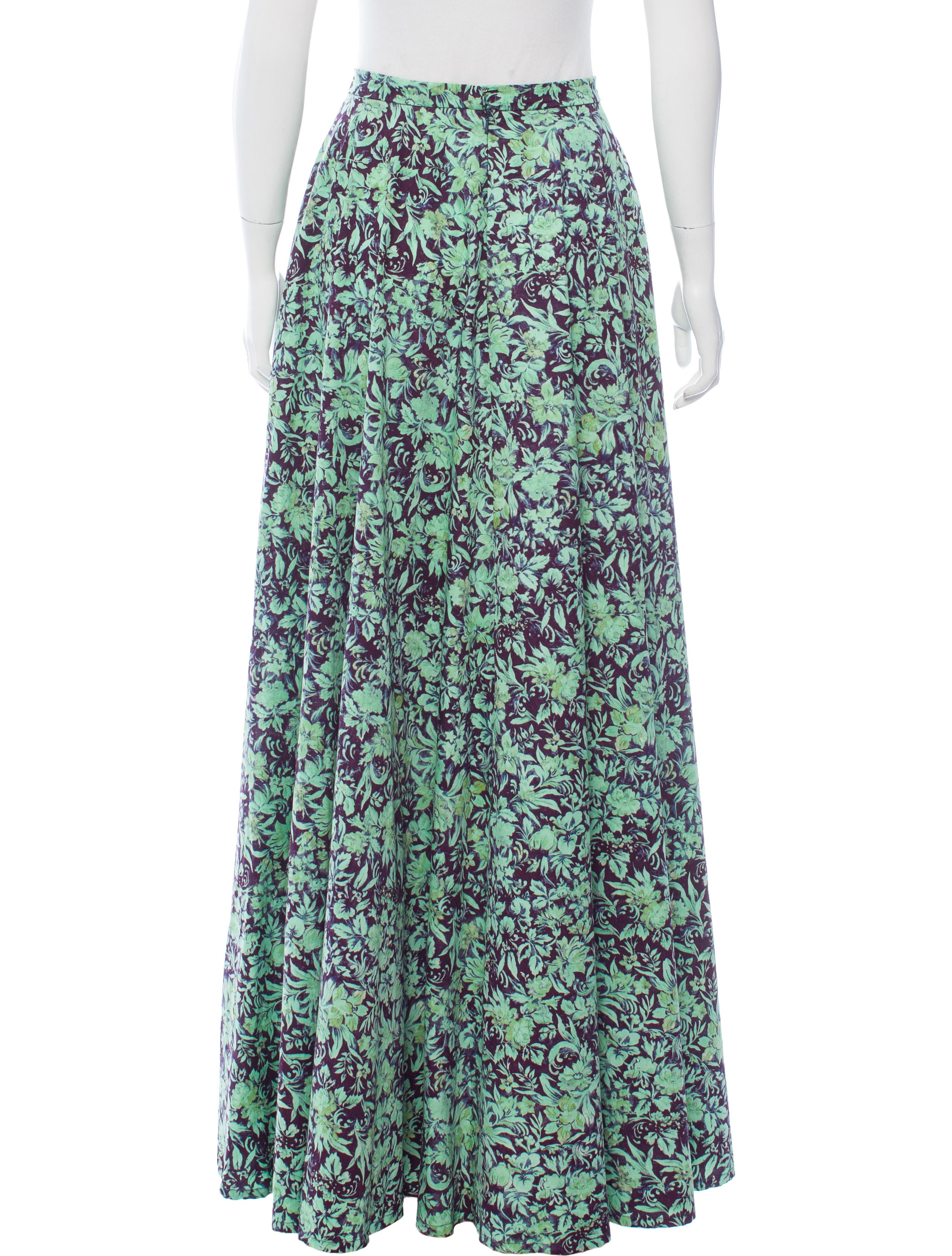 antonoff floral print a line skirt clothing