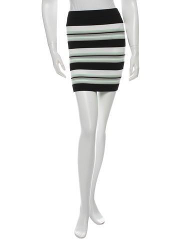 Ronny Kobo Striped Mini Skirt None