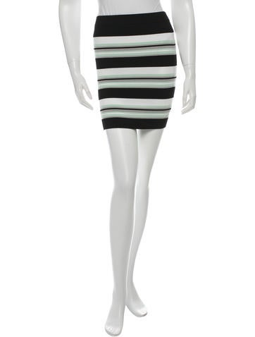 Ronny Kobo Striped Mini Skirt None