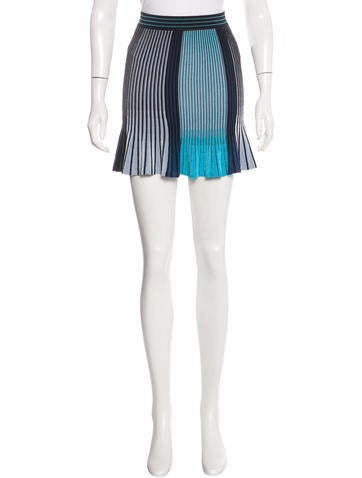 Ronny Kobo Pleated Stretch Knit Skirt w/ Tags None