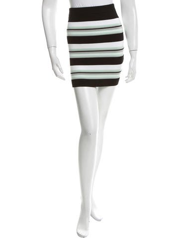 Ronny Kobo Striped Knit Mini Skirt w/ Tags None