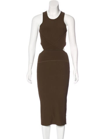 Ronny Kobo Cutout Midi Dress None
