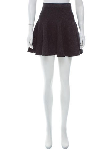 Ronny Kobo Metallic Mini Skirt w/ Tags None