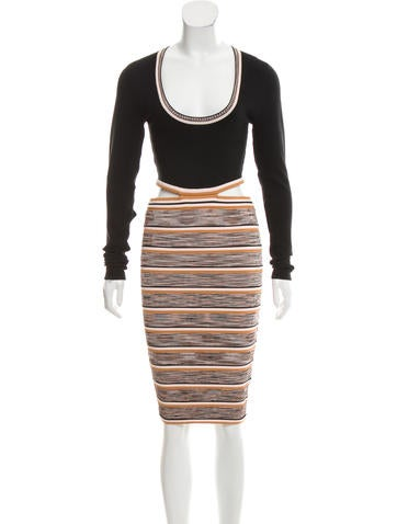 Ronny Kobo Cutout Rib Knit Dress None