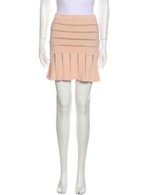 Ronny Kobo Striped Mini Skirt Metallic