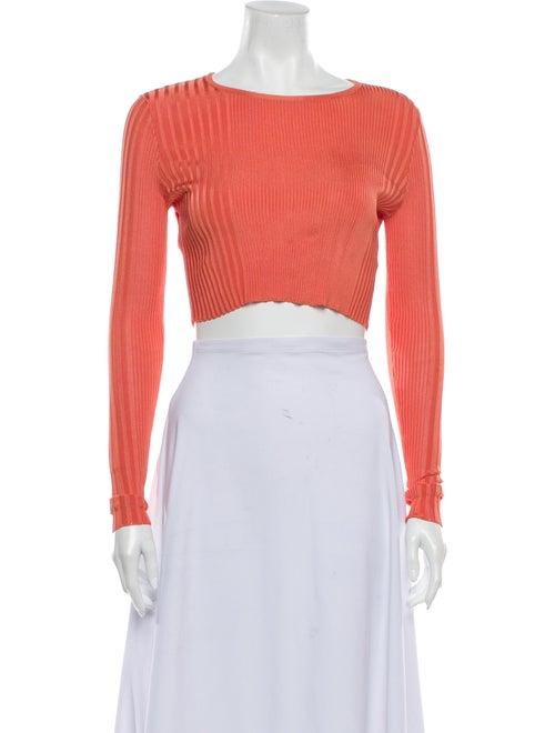 Ronny Kobo Scoop Neck Sweater Orange