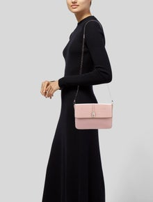 Class Roberto Cavalli Embossed-Trimmed Leather Shoulder Bag