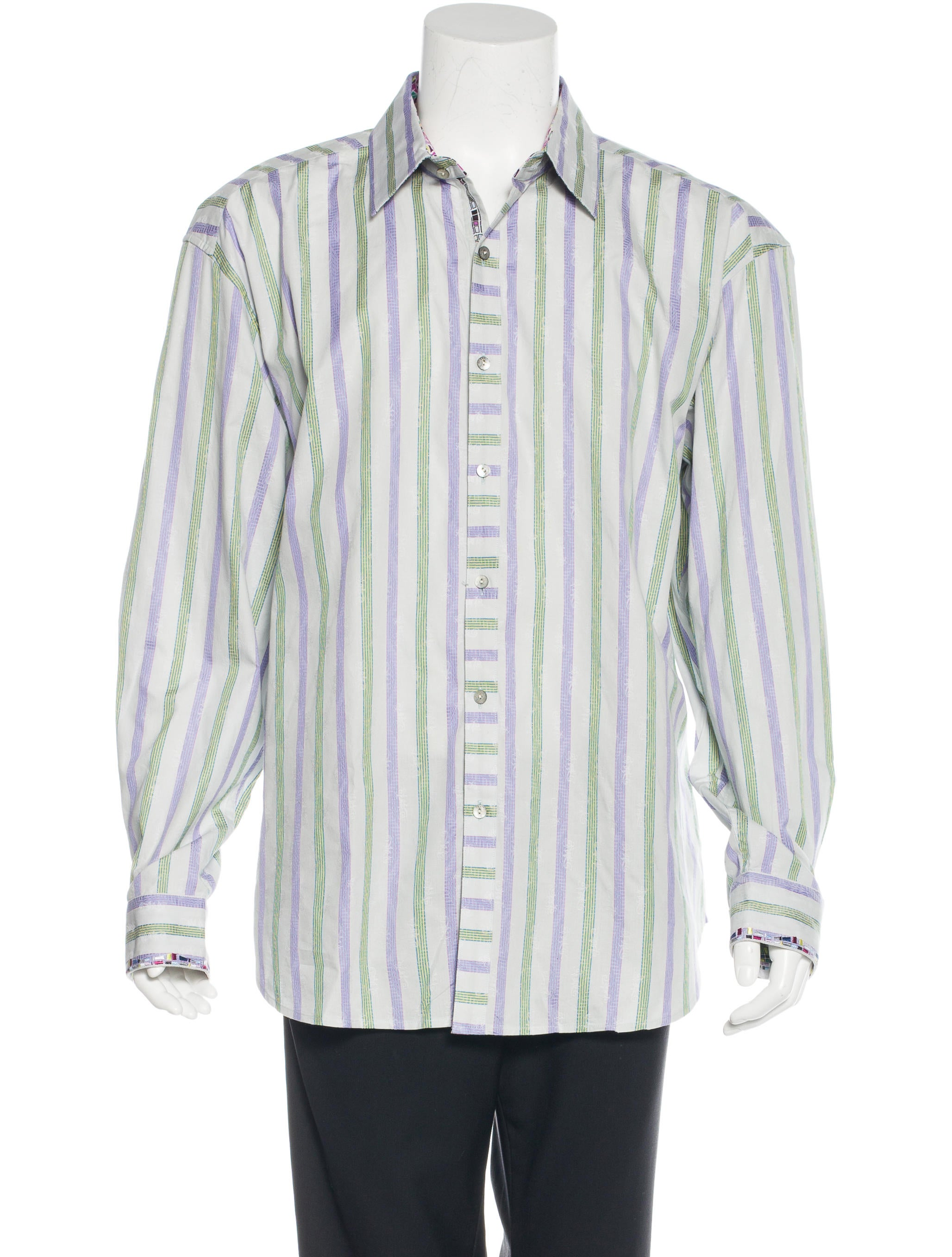 Robert graham striped woven shirt clothing wrobg20603 for Where are robert graham shirts made