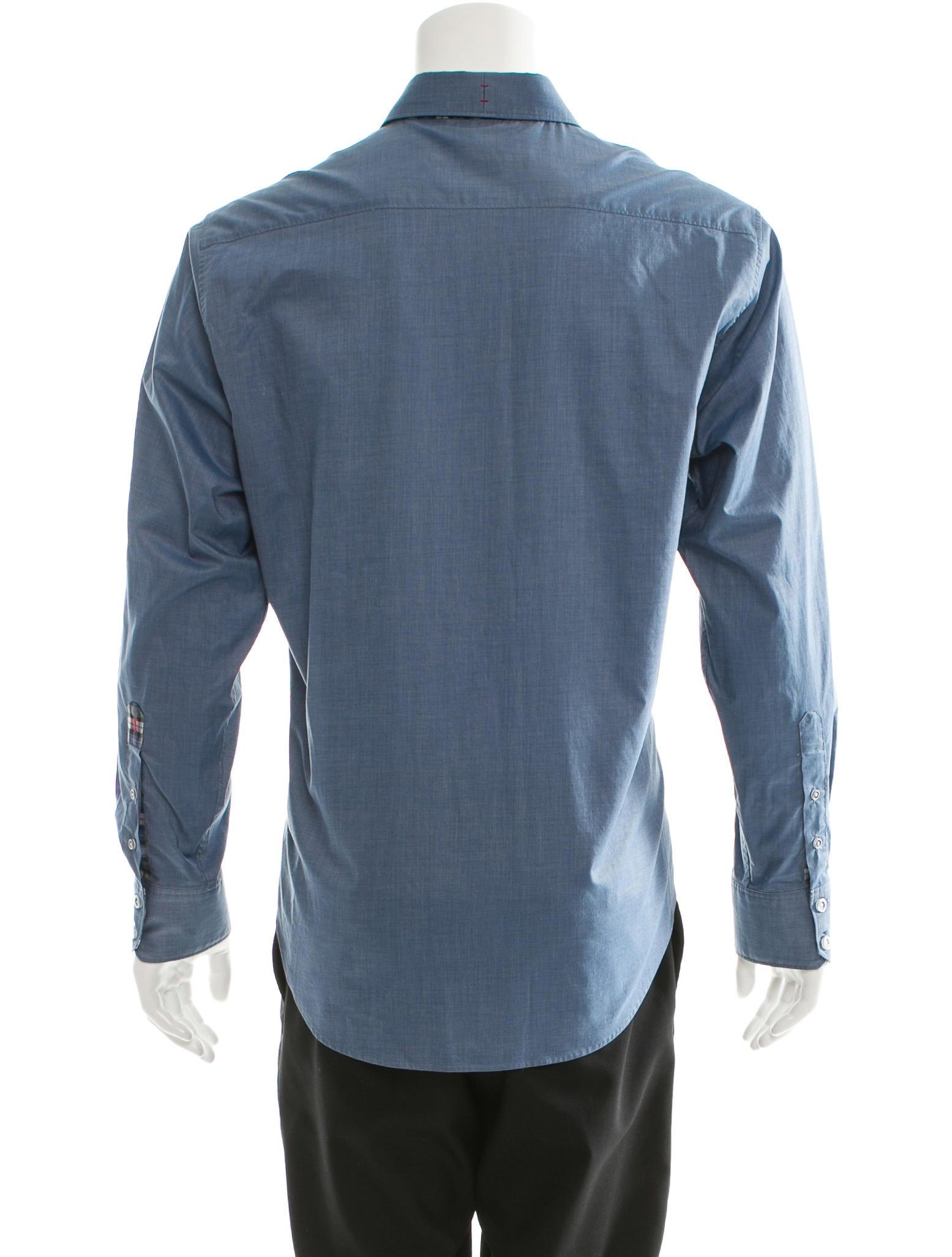 Robert Kitchen Clothing Designer Robert Graham Long Sleeve Button Up Shirt Clothing Robert