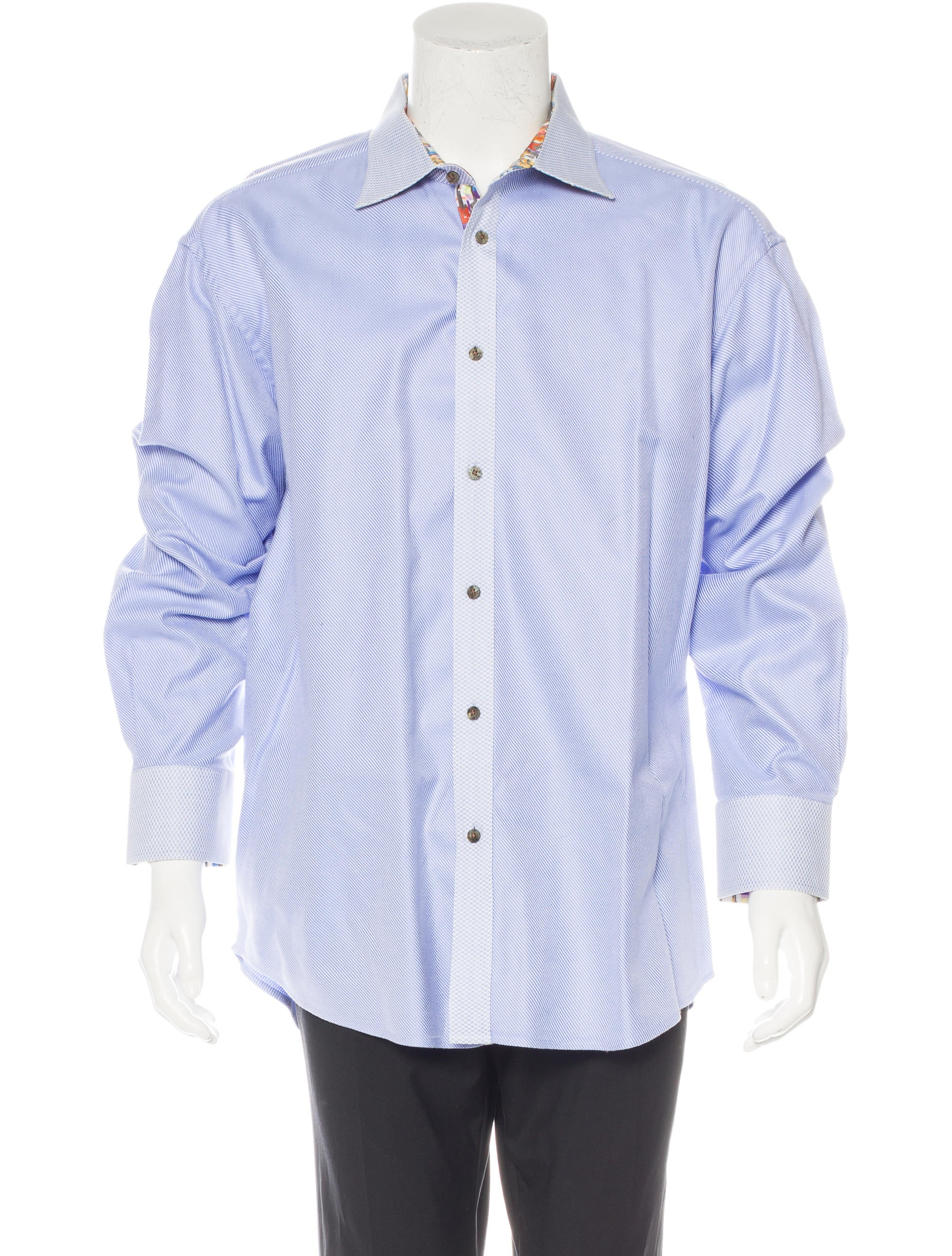 Robert graham striped woven shirt clothing wrobg20824 for Where are robert graham shirts made