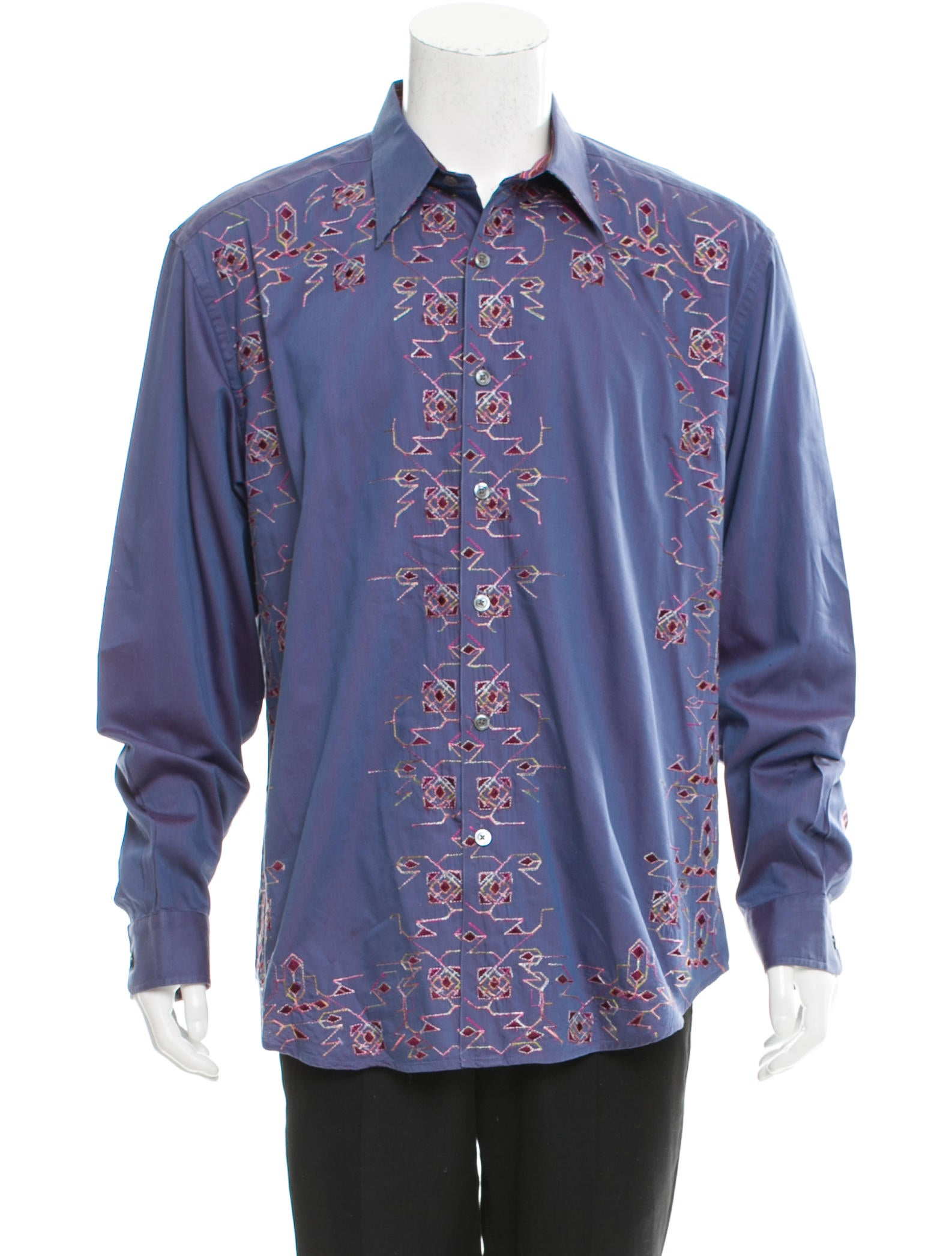 Robert Graham Embroidered Woven Shirt Clothing