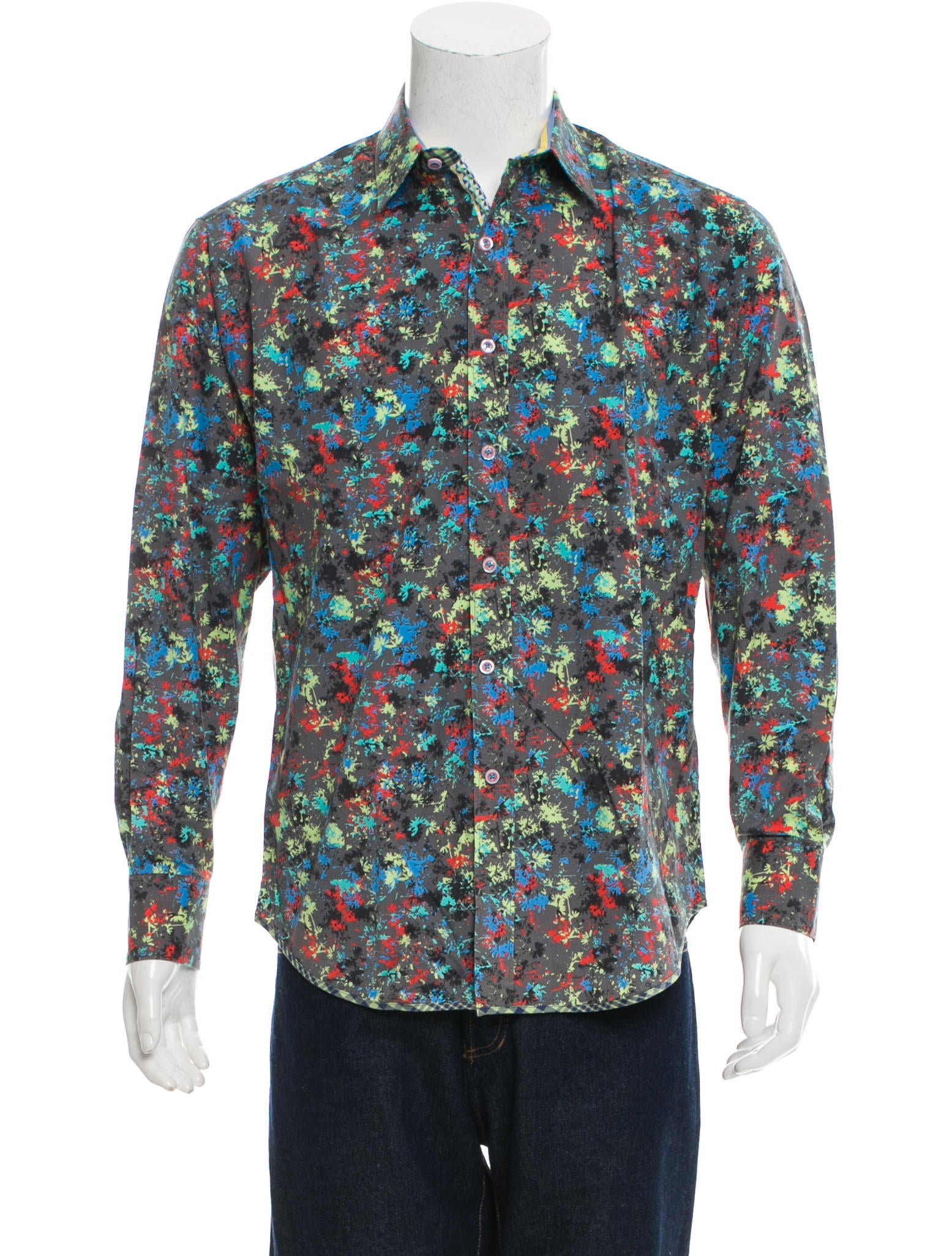 Robert graham printed button up shirt clothing for Where are robert graham shirts made