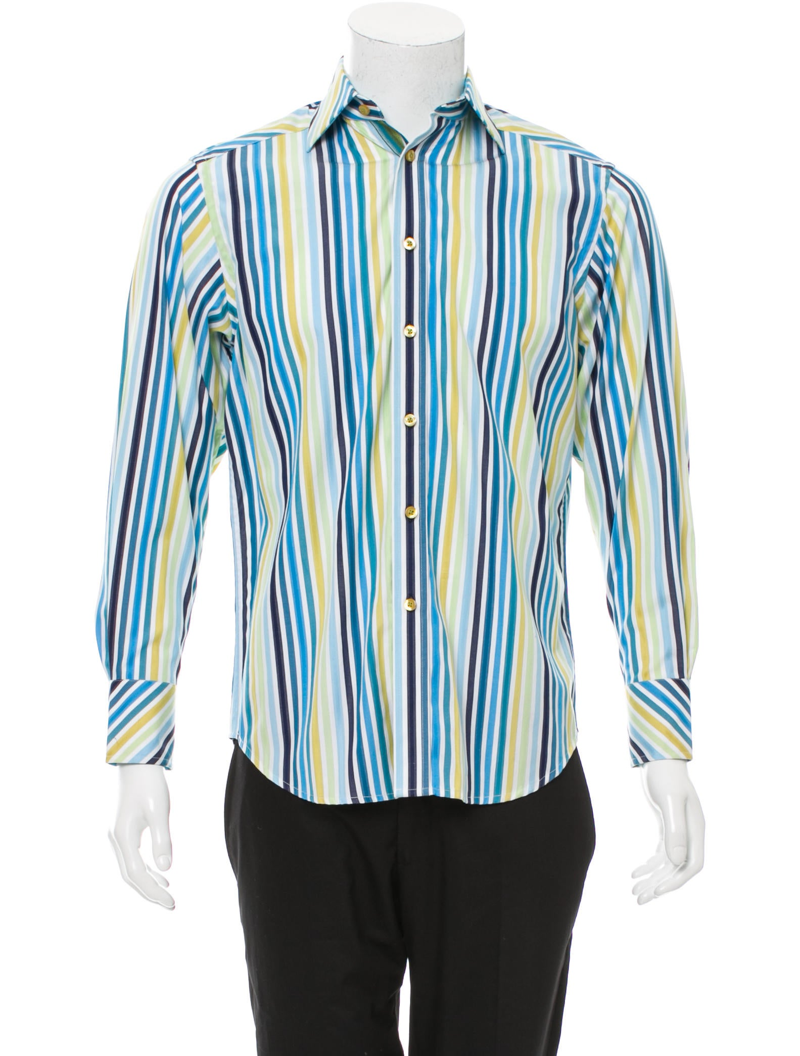 Robert graham striped button up shirt clothing for Striped button up shirt mens