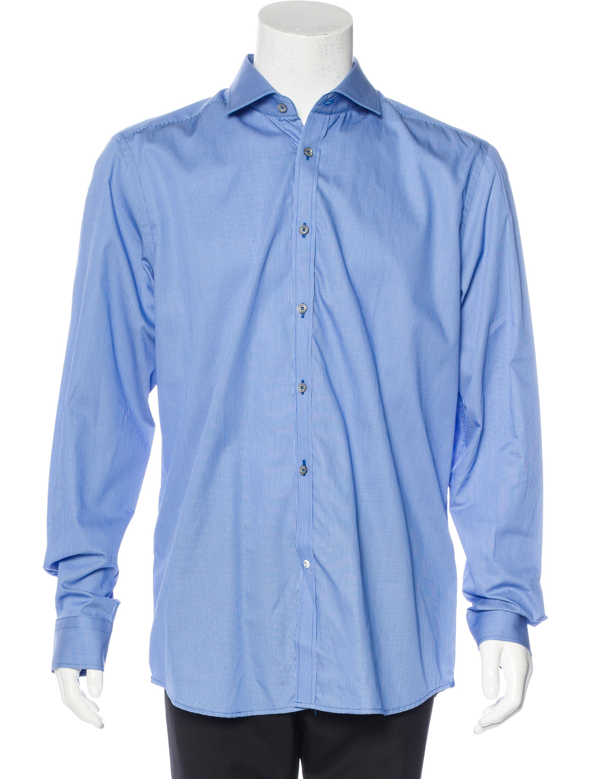 Robert graham tailored fit striped shirt w tags for Tailored fit dress shirts