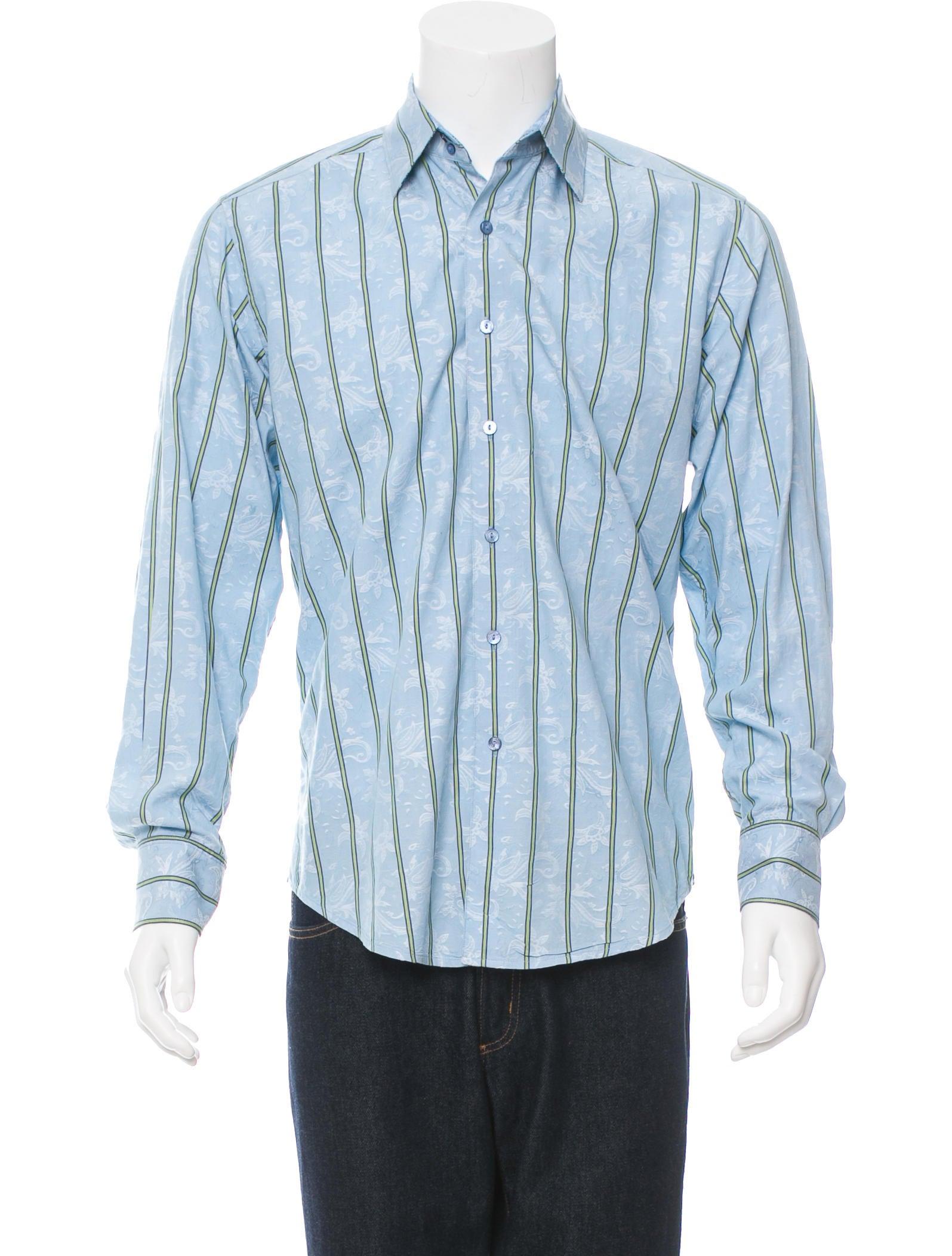 Robert graham striped floral print button up shirt for Floral print button up shirt