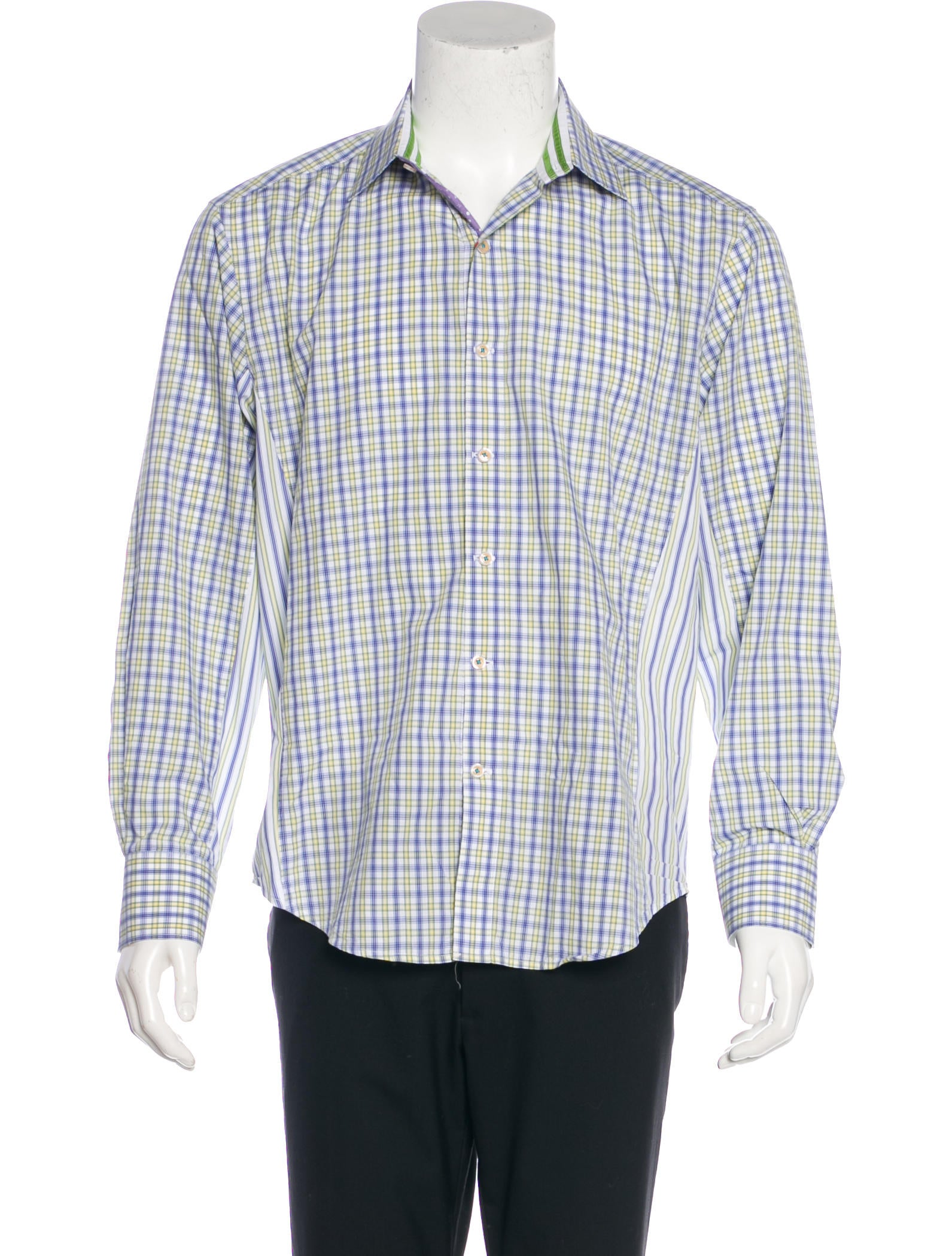 Robert graham tailored fit multi print shirt clothing for Tailored fit dress shirts