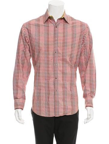 Silk-Blend Button-Up Shirt