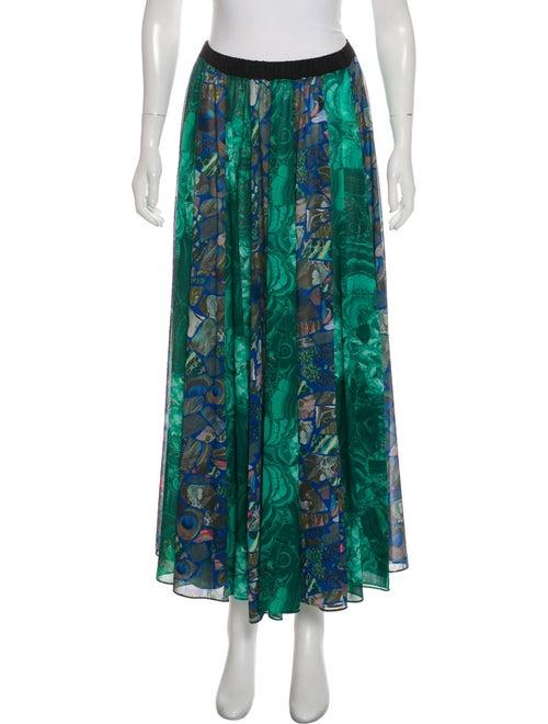 Romance Was Born Printed Midi Skirt w/ Tags Green