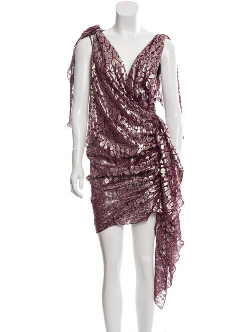 Romance Was Born Silk Mini Dress w/ Tags Purple