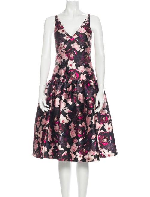 Romance Was Born Floral Print Midi Length Dress w/