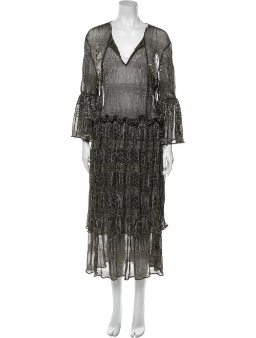 Romance Was Born V-Neck Midi Length Dress w/ Tags