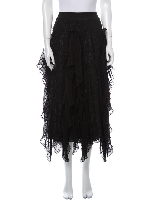 Romance Was Born Midi Length Skirt Black