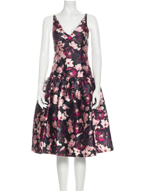 Romance Was Born Floral Print Midi Length Dress w/