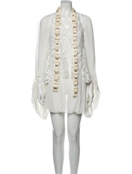 Romance Was Born Silk Mini Dress - image 1