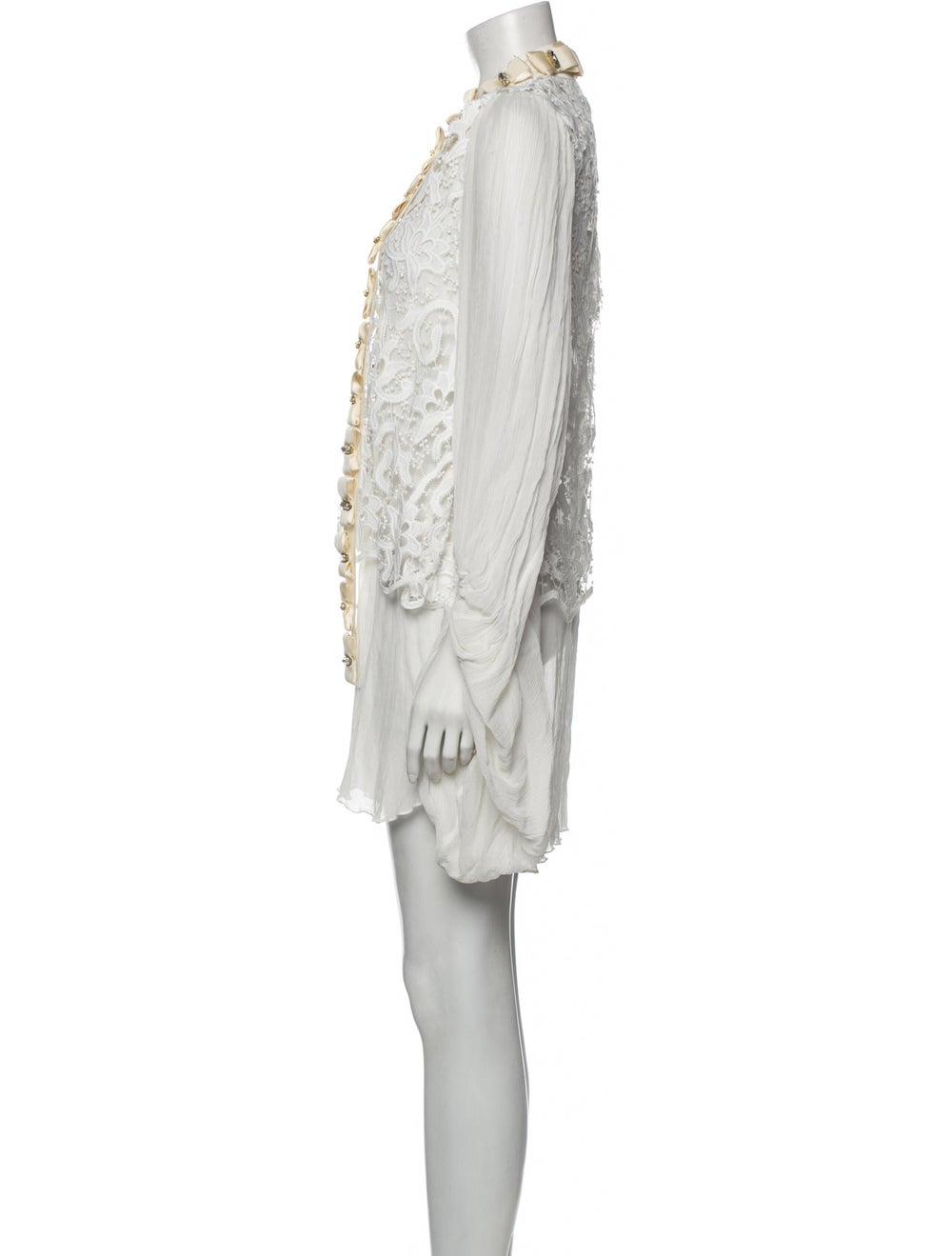 Romance Was Born Silk Mini Dress - image 2