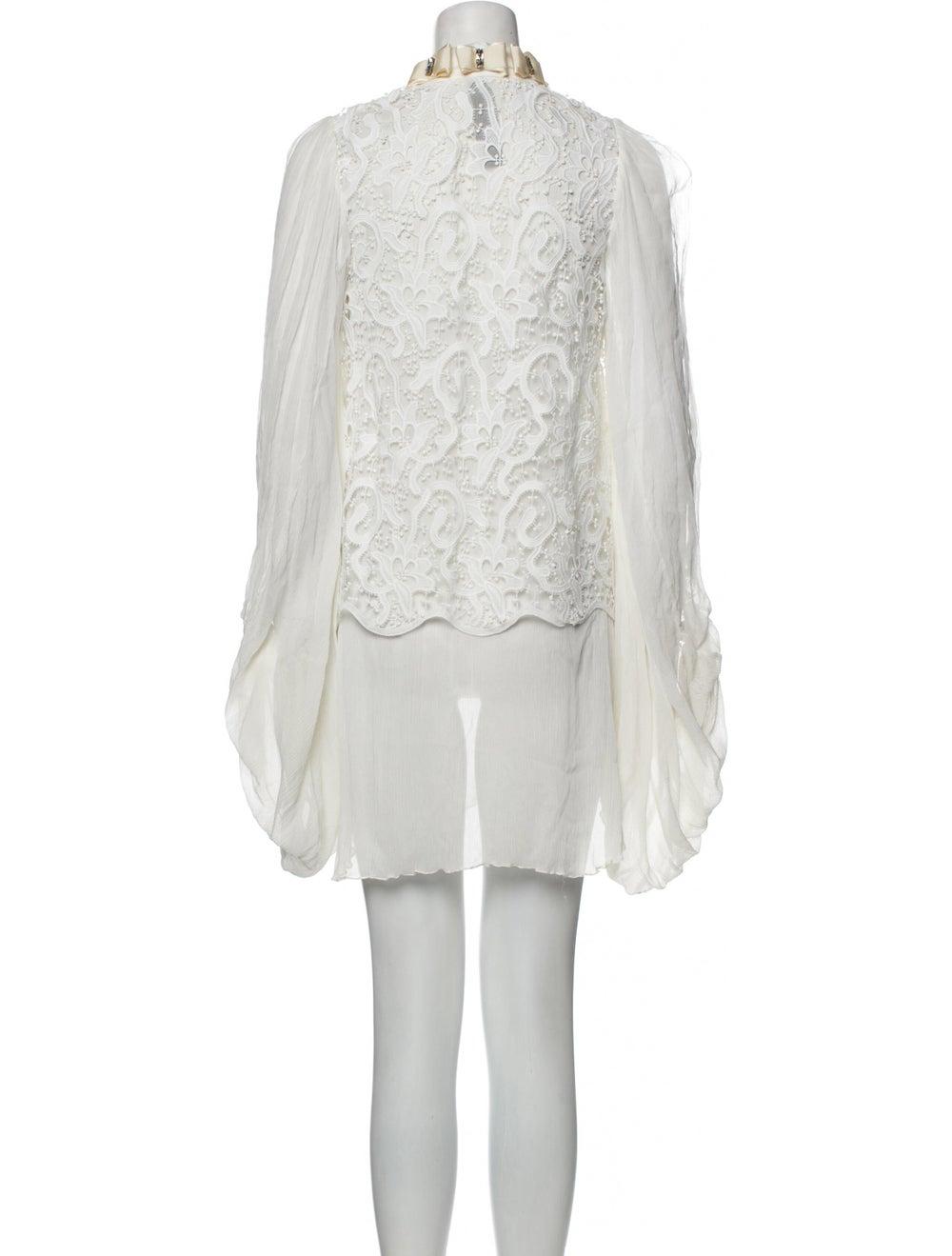Romance Was Born Silk Mini Dress - image 3