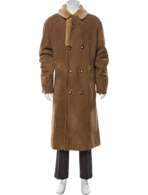 Roots Shearling Coat Brown