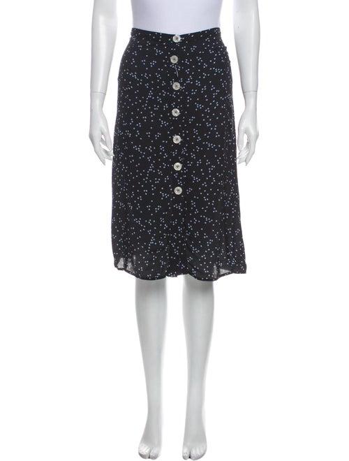 Rouje Printed Knee-Length Skirt Blue
