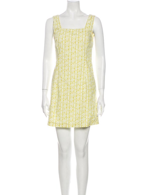 Rouje Printed Mini Dress Yellow