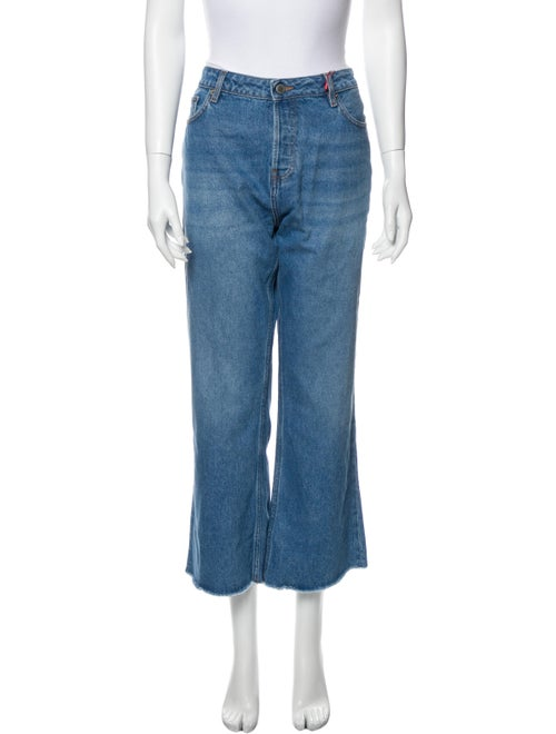 Rouje High-Rise Wide Leg Jeans w/ Tags Blue