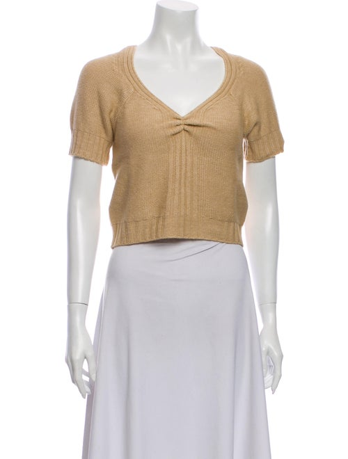 Rouje V-Neck Short Sleeve Crop Top w/ Tags