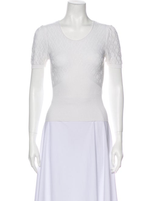 Rouje Scoop Neck Sweater White
