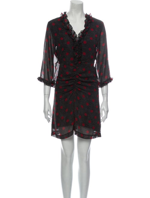 Rouje Printed Mini Dress Black