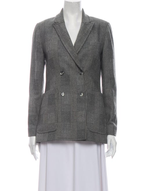 Rouje Plaid Print Blazer Grey