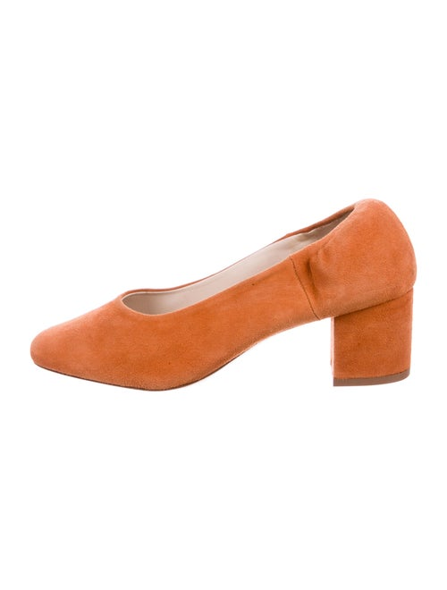 Rouje Suede Pumps Orange