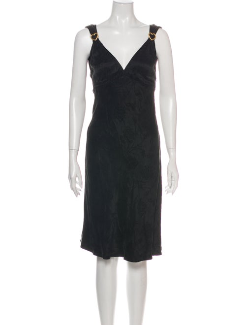 Rouje Patterned Knee-Length Dress w/ Tags Black