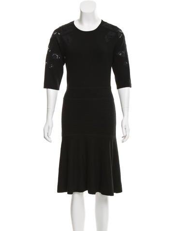 Raoul Lace Intarsia Sweater Dress None