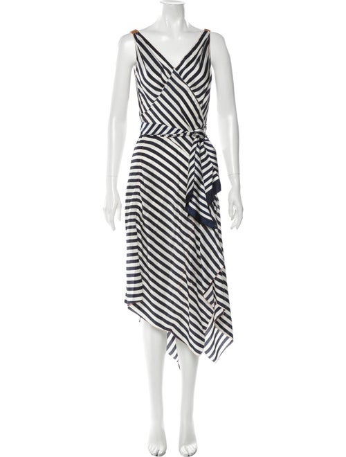 Rozae Nichols Striped Long Dress White